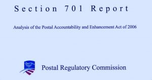 Postal stakeholders file comments for the PRC's 701 report to the President and Congress