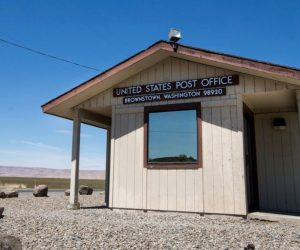 Postmaster of Yakima County's smallest post office brings cheer to Brownstown