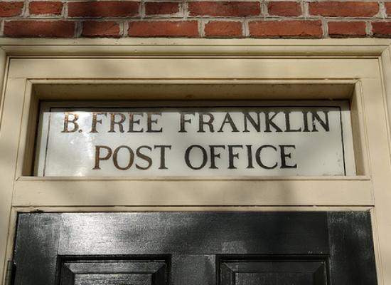 Ben Rolls Over In His Grave: B Free Franklin Post Office, On The Chopping  Block | Save The Post Office