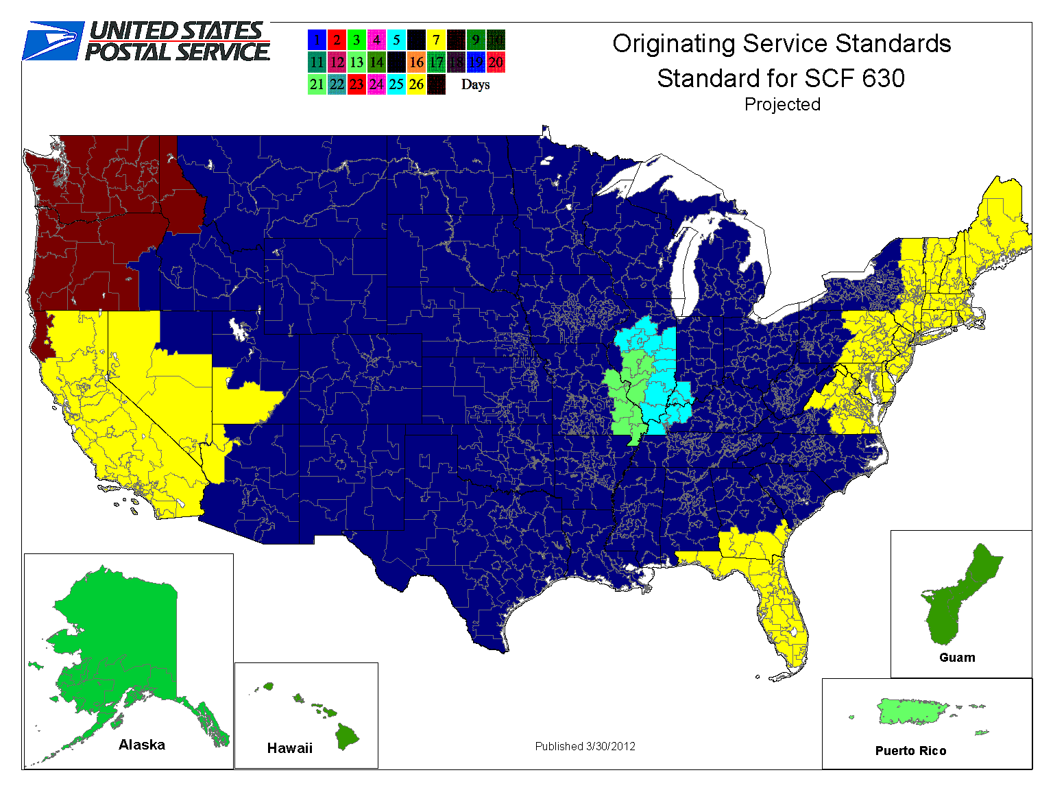 How Network Rationalization Speeds Up Standard Mail And Hastens - Us postal service transit map